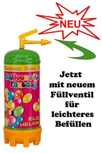 Preisvergleich Produktbild Ballongas Helium für 30 Ballons Einweg Flasche Ballongasflasche Heliumflasche