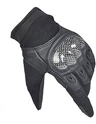 Protección Escalada 's hombres de la montaña ciclo al aire libre de protección refiere a los guantes ( Color : Negro , Tamaño : M )