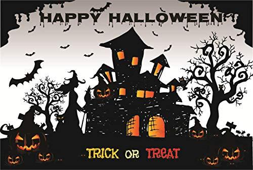 WaW Schwarz und weiß Hintergrund 2.2x1.5m Cartoon Comics Happy Halloween Hintergründe stduio Fotografie für Kinder