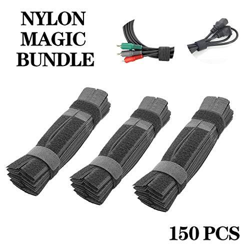 Hauswirtschafts-Organisatoren,TwoCC Klebstoff Zurren Magie Selbst Seil Multi Funktion Computer Kabel Nylon Kabel 150PCS -