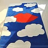 Creative cielo azul blanco nube alfombra labios dormitorio mesa de café sala de estar niños protección del medio ambiente cabecera , 900mm * 1500mm