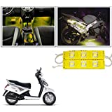 Vheelocityin 6 LED Custom Cuttable Yellow Motorycle/ Scooter LED Light for Interior/ Exterior For Royal Enfield Bullet Electra Twinspark