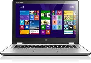 Lenovo Yoga-2 13 33,8 cm (13,3 Zoll) Convertible Notebook (Intel Core i5 4200U, 2,6GHz, 8GB RAM, 500GB HDD, Touchscreen, Win 8) silber