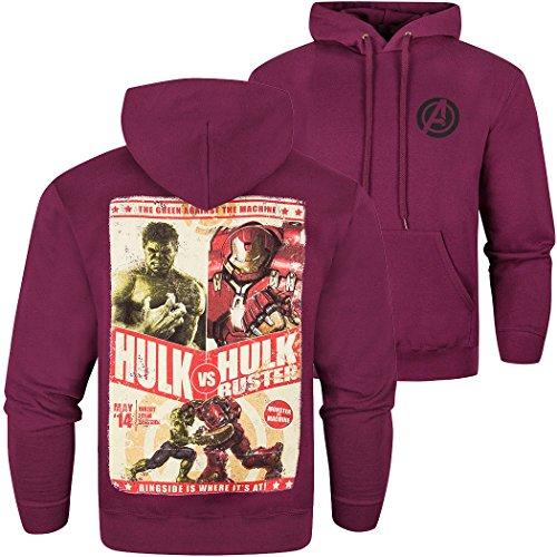 Ufficiale Avengers della Marvel 2 di età Ultron 'Hulk Vs Hulkbuster' felpa con cappuccio felpa