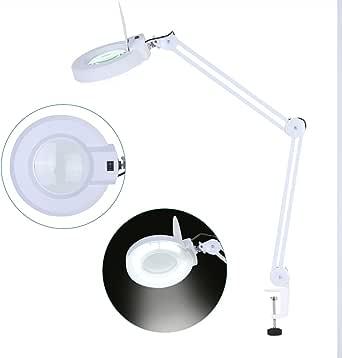 SOULONG Lampe Loupe LED de Table Pliable avec Support de