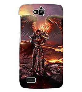 ColourCraft Devil Design Back Case Cover for HUAWEI HONOR HOLLY
