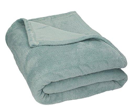 Betz POLAND foro polar manta picnic manta de viaje tamaño 140 x 190 cm color verde gris