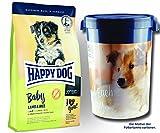 2 x 10 kg + Futtertonne 43 Liter Happy Dog Supreme Baby Lamb & Rice