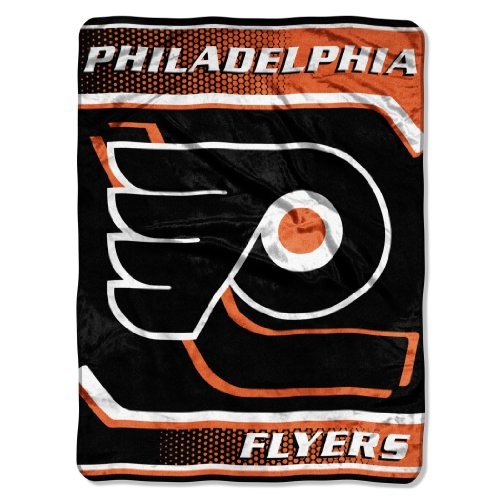 NHL Philadelphia Flyers Banner Royal Plush Raschel Throw Blanket, 60x80-Inch by Northwest