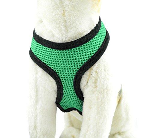 YiJee Haustier Hund Sommer Bekleidung Sicher Kontrolle Hundegeschirr Welpen Vest Harness Grün XS