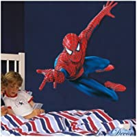 Huge Large Spiderman Wall Stickers Children Boys Bedroom Decal art Mural Decor.