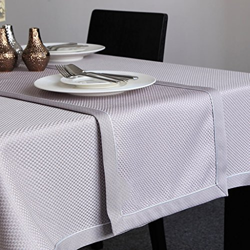 BSNOWF-Chemin de table Table Runner Solide Couleur Treillis Table Basse Drapeau Table À Manger Serviette Pad Simple Moderne ( Couleur : Violet , taille : 32*180cm )