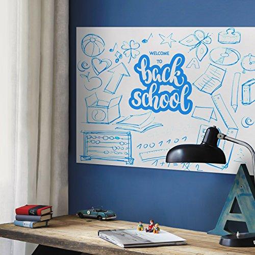 Whiteboard Aufkleber Wand Aufkleber Kontakt Papier 44,5cm x 200cm für Office Home Schule, Whiteboard Sticker, 44.5*200CM Thick Upgrade (Schälen Und Stick-white Board)