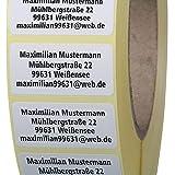 Adressetiketten mit Wunschdruck 100 Stück 40 x 20 mm Haftpapier