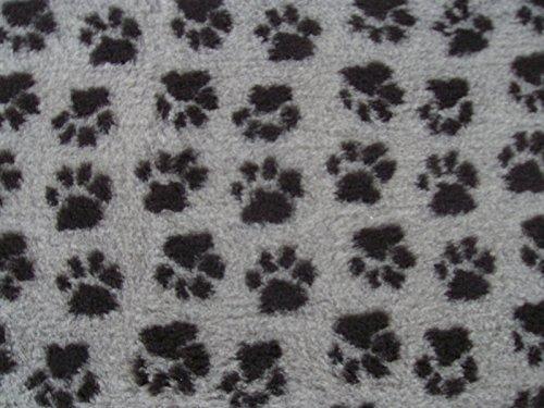 Tapis vétérinaire PnH Veterinary Bedding® antidérapant - 100cm x 100cm - Motif Pattes Gris