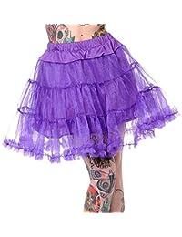 Banned Petticoat SWING TUTU SHORT purple S