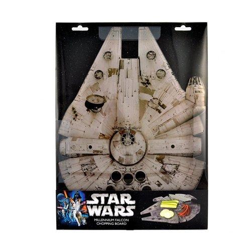 Star Wars - Tovaglietta per la colazione / tagliere / piatto di presentazione del Millenium Falcon - Con licenza ufficiale di Guerre Stellari - 39 x 29cm