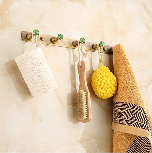 LLLKKK All-Kupfer-Antike Kleiderhaken Retro Wand- Handtuchhaken Grün Bronze Badezimmer Kreative Reihe Haken -