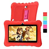GBtiger L701 Tablet PC de 7 Pulgadas para Niños  (Android 4.4, Quad Core 1.3GHz, 512MB RAM + 8GB ROM, Resolución HD de1024 x 600, WiFi, Bluetooth) color Blanco/Rojo