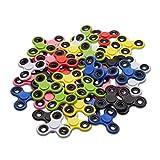 25x Fidget Spinner Tri-Bar, 58 g Finger Spinner, mit Hochleistungskugellager, Entspannung und Stressabbau, gelb, blau, grün, schwarz, pink, rot