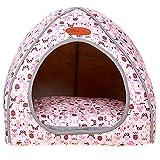Haustier Nest Luxus Abnehmbare Weiche Gemütliche Welpen Kätzchen Bett Warme Haus Zelt Waschbar Faltbare Hund & Katze Winter Bett Pink XL