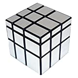 Roxenda S333-Mirror-S-Mirror Magic Cube Intellengence - Juego de Rompecabezas para niños, Color Plateado