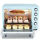 STBD- Forno Meccanico Intelligente, 6 Tubi di Riscaldamento, 40 Litri di Grande capacità, 12 Pollici di Pizza/Torta di Chiffon da 11 Pollici, Funzione di Cottura/Pane Tostato/Barbecue, Blu