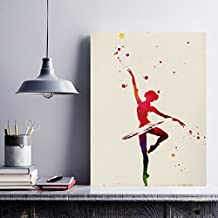 Lámina para enmarcar BAILARINA DE BALLET estilo acuarela. Poster con imágenes de danza impresas a estilo acuarela. Lámina ballet. Decoración de hogar. Láminas para enmarcar. Papel 250 gramos alta calidad