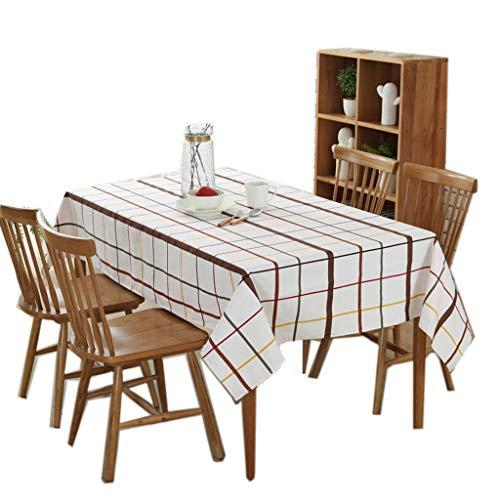KKCD Tischdecke Baumwolle Abwischbar Rechteckig Wasserdicht Anti-Rutsch-Tischdecke Für Gartenküche Außen- Oder Innengitter Esstisch Tischdecke (Farbe : A, größe : 140x240cm)