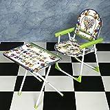 Flipzon Multipurpose Classy Folding Table Chair Set For Kids, Green