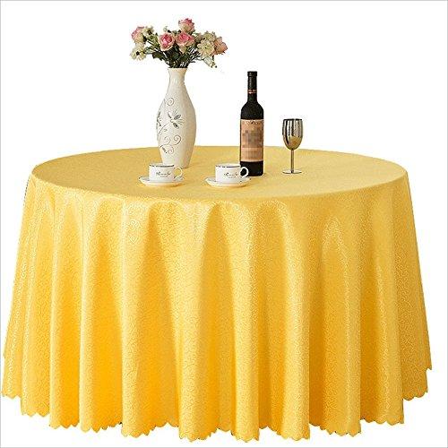 QPG Hochzeitshotel Restaurant Hotel Mahlzeit Runde Tischdecke Nordic Tischdecke180-300 CM ( Farbe : A , größe : Diameter 180cm )