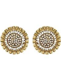 4e4eef234 Designer Partywear Wedding Eid Floral Design CZ Stud Earrings by  Shreyadzines for Women and Girls