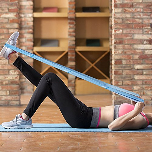 Bandas elásticas-CMXING Bandas Elasticas Fitness / Bandas de Resistencia cinta elástica para musculation, yoga, crossfit, entrenamiento de fuerza, pilates, fisioterapia (88cmx4cm)