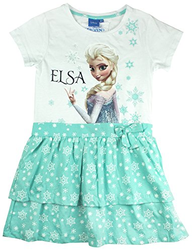 Get Wivvit Girls Disney Frozen Elsa Snowflake Rara Bow Skirt Sun Dress Sizes From 1.5 To 8 Years