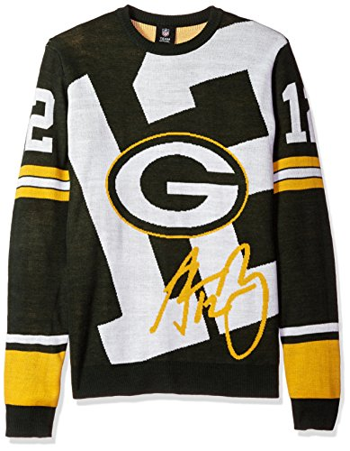 Forever Collectibles NFL Green Bay Packers Unisex Rodgers A. # 12Laut Player Pullover-Herren Groß
