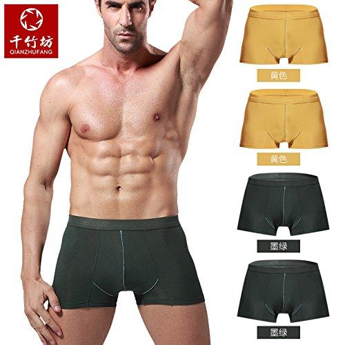 Unterhosen Unterwäsche Bambusfaser Shorts u Sexy Shorts Komfortable 4-pcs, j, xxl Greatlpk l