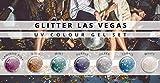 N&BF 7er Farbgel Set Las Vegas | 7x5 ml UV Colourgel für Nägel | Sparpaket Color Gel in sieben glimmernden Farben | Made in EU | Sparset für Gelnägel | Profi Nagelgel