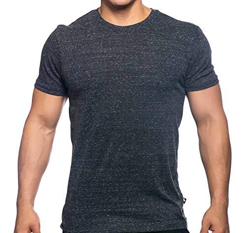 Christian Vintage T-shirts (Andrew Christian Herren T-Shirt Happy Tagless Crew Neck Tee 10165, Vintage schwarz S)