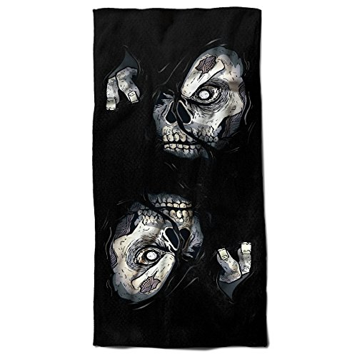 alypse 30cm x 60cm Badetuch | Wellcoda (Zombie-handtuch)