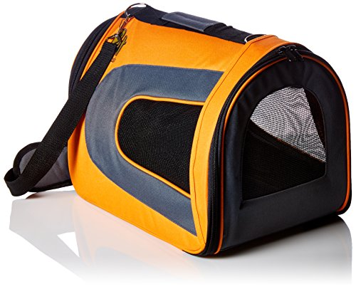 [Extra 30% OFF This Week Only] Soft-Sided Pet Travel Carrier (Airline Approved) for Cats, Small Dogs, Puppies and Other Pets by Pet Magasin (Large, Orange)