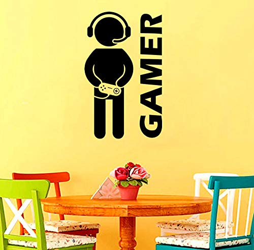 Zitat Home Decoration Abnehmbare Vinyl Spiel Video Cartoon Kindergarten Klebrige Rocker Familie Kinderzimmer Aufkleber Pvc Wandaufkleber Wandbilder -
