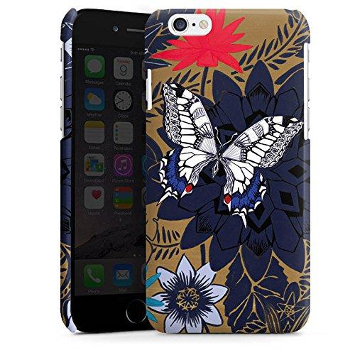 Apple iPhone 5 Housse étui coque protection Papillon Fleurs Fleurs Cas Premium brillant