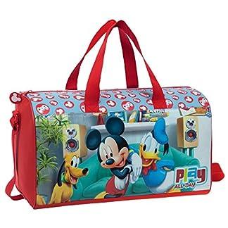 Disney Mickey Play Bolsa de Viaje, 21.17 Litros, Color Rojo