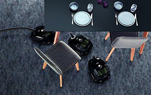 AEG VX6-1-ÖKO Staubsauger mit Beutel EEK A (700 Watt, inkl. Hartbodendüse, 9 m Aktionsradius, Softräder, 3,5 Liter Staubbeutelvolumen, Hygiene Filter E12) Schwarz/Grün -