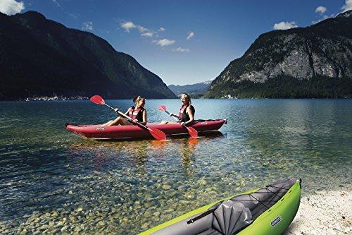 Productos STABIELO - para 2 personas GUMOTEX manguera kayak Twist con 2 1 x remo asimétrico + 1 x bomba de pie kayak - manguera de kayaks para CAMPING-CARAVAN-OUTDOOR - ocio - ventas grasekamp productos STABIELO - innovación made in Germany - Holly productos STABIELO - Holly-verde disponible en 4 coloures - amarillo - ROJO - AZUL - SAFARIE - Coloures a petición - Holly-verde