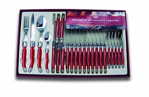 Menagere Couleur 24 Pieces - Laguiole Production 441310 Ménagère 24 Pièces: Couverts