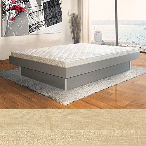 SONDERAKTION bellvita silverline Wasserbett mit Unterbausockel in KOMFORTHÖHE & Bettumrandung inkl. Lieferung & Aufbau durch Fachpersonal, 160 cm x 200 cm (ahorn)