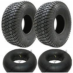 Zwei - 4.10x3.50-4 4tür Gras Rasenmäher Reifen und Rohre