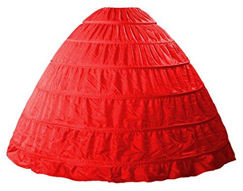 Babydress®Sottogonna sposa sottogonna crinolina 6 cerchio cerchi sottogonna sottoveste da sposa abiti da sposa Sottovesti e sottogonna sottoveste wedding petticoat Sottogonne da donna Gonne da donna Rosso