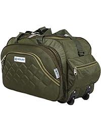 M MEDLER Nylon Expandable Duffel Pro Trolley Bag (Green)